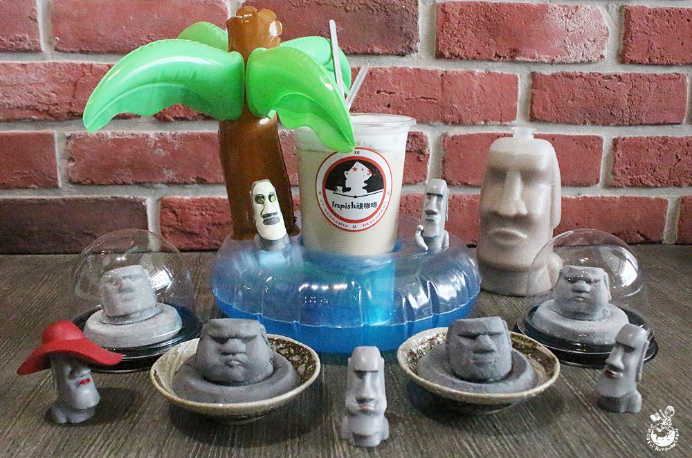 台中西區咖啡︳客製拉花聞名的Impish頑咖啡,新推出超逗摩艾棉花糖