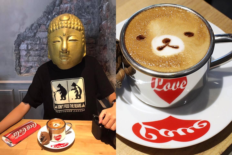 台中早午餐推薦︳牧熊小館,人氣工業風咖啡館,卡布有熊出沒!