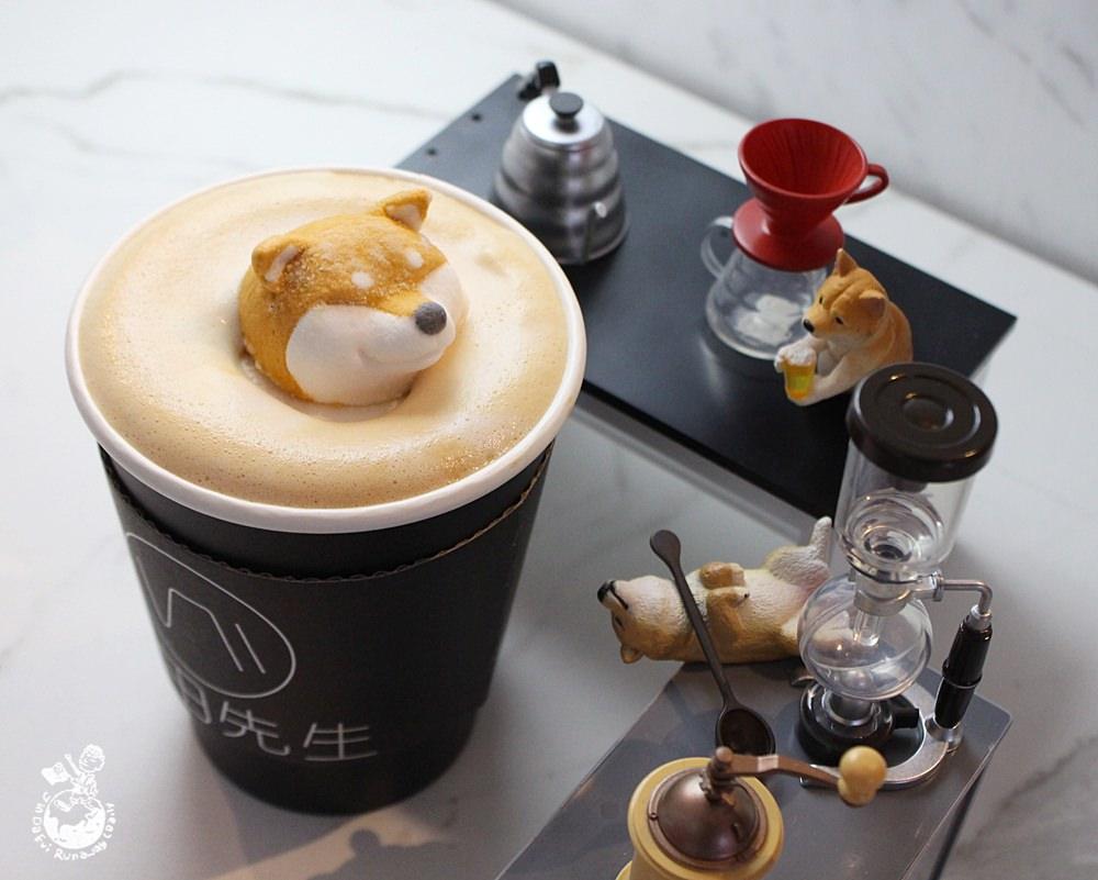 忠孝敦化站咖啡︳雨田先生手沖飲品吧-柴犬控快衝!微笑柴柴棉花糖溫暖你冷冷的冬!