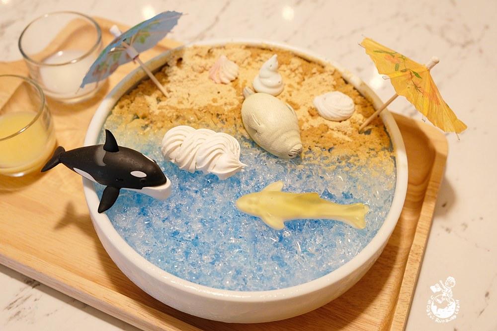 台中冰店︳壹善亭-中華夜市裡的韓式冰品,海洋剉冰超消暑,網美ig打卡熱門