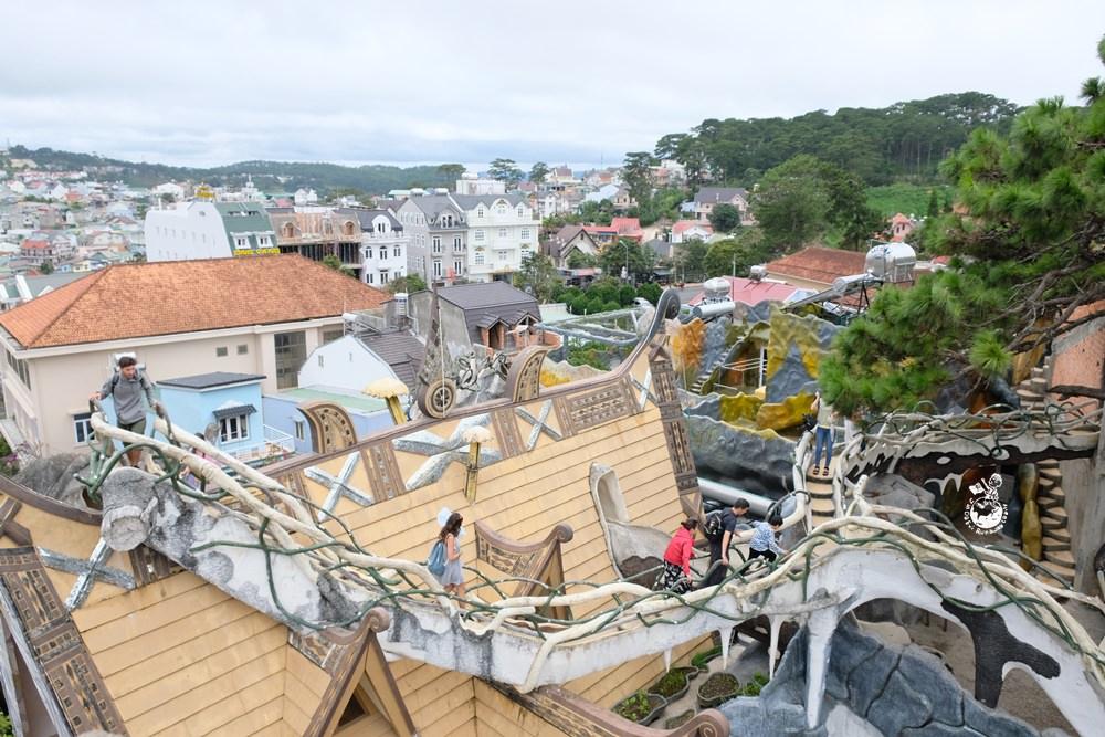 越南大叻景點︳瘋狂屋Crazy House-世界十大離奇建築和旅館,越南版高第宛如失控的國度