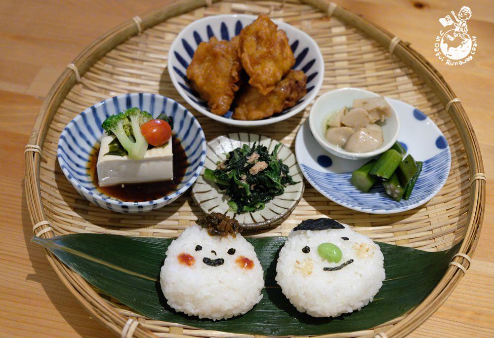 開動了日本家庭料理-會笑的飯糰定食超療癒,來自日本媽媽的愛