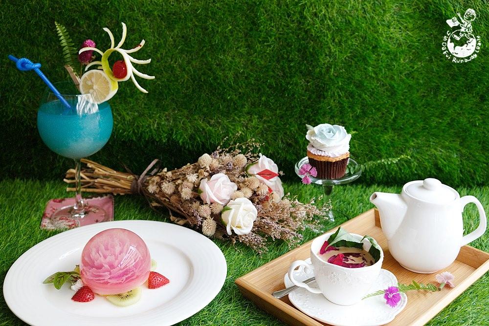 高雄下午茶推薦︳蔝蓨花苑Miss U Flower Tea House-甜點和飲料都彷彿藝術品,讓網美心花朵朵開的夢幻咖啡店