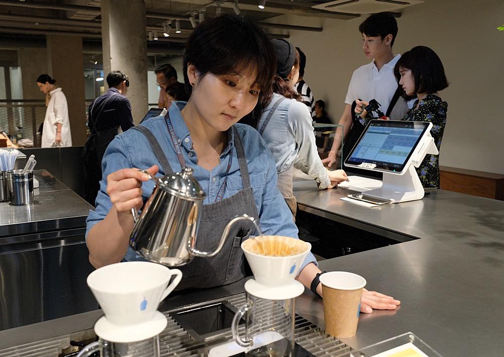 韓國藍瓶咖啡
