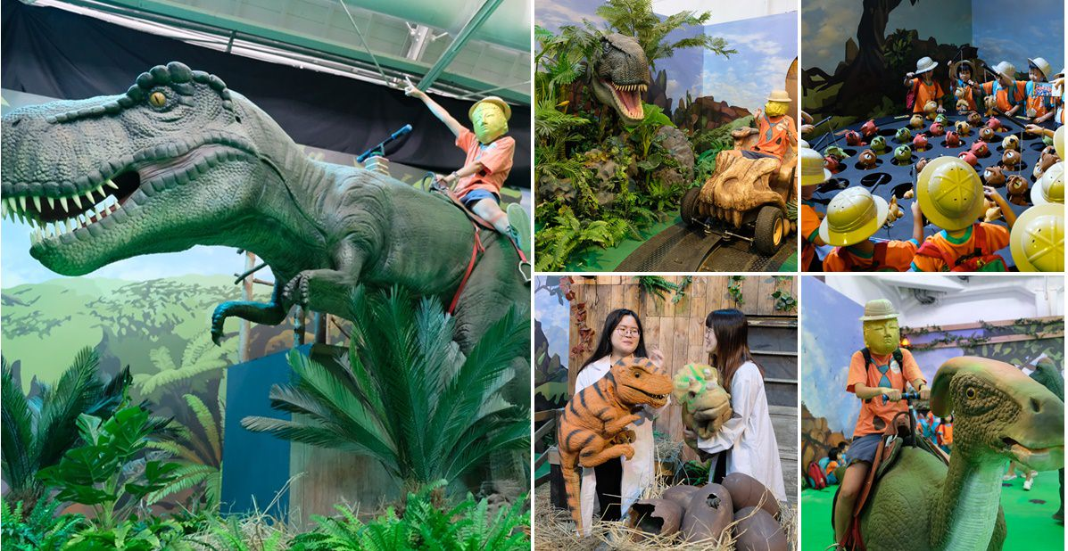 侏羅紀x恐龍樂園台中場站︳搭恐龍骨頭吉普車冒險去,親子旅遊暑假就來台中看恐龍