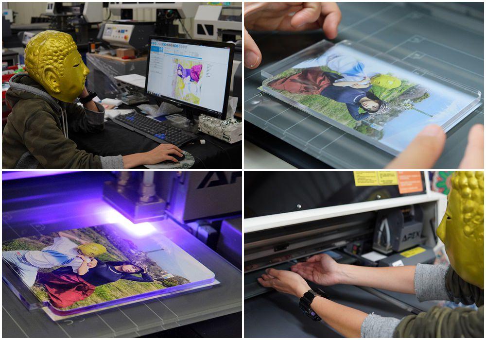 客製化小夜燈印製-UV直噴機