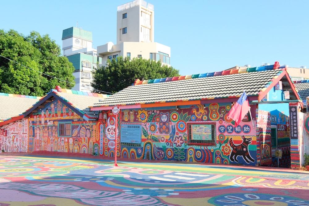 彩虹眷村︳免門票台中景點,整個眷村都是彩虹爺爺的童心未眠之作