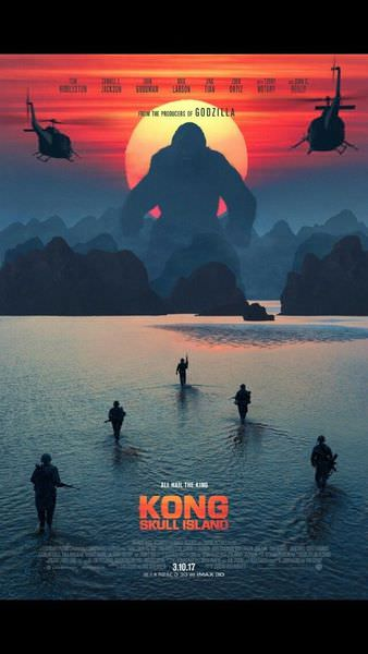 電影︱金剛:骷髏島 ,喜歡怪獸和爽片的人務必進場看加大版的金剛!