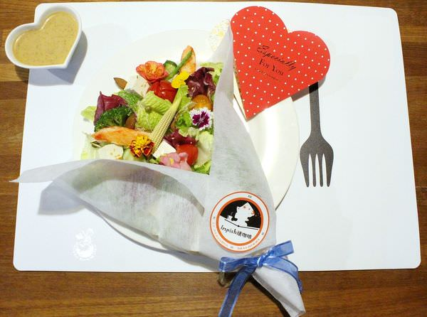 台中早午餐推薦︳Impish頑咖啡,精誠路特色咖啡店,花束沙拉浪漫又新鮮